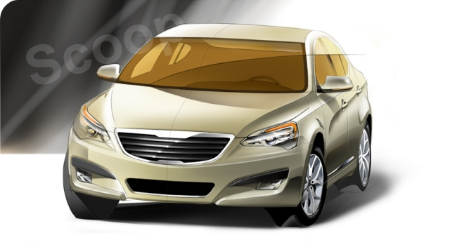Speculation Rendering Of The 2010 Kia Vg Kia News Blog