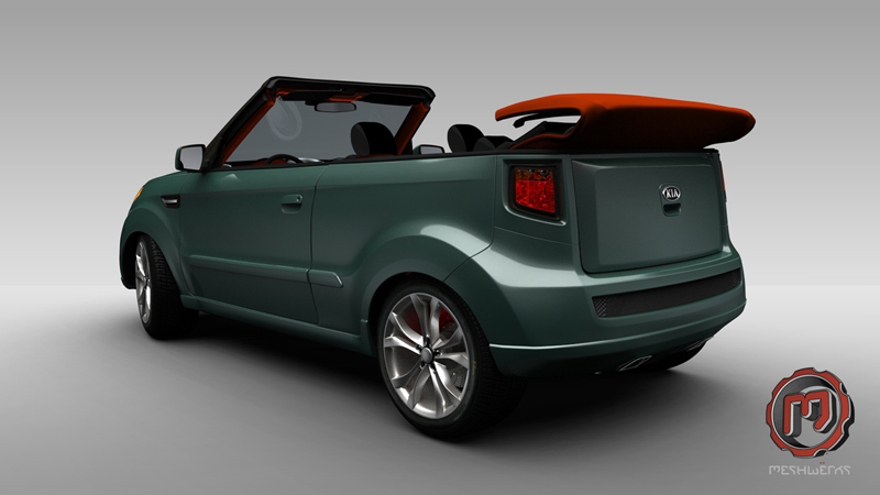 Kia Soul Convertible Is A Topless Variant Of The Hamster