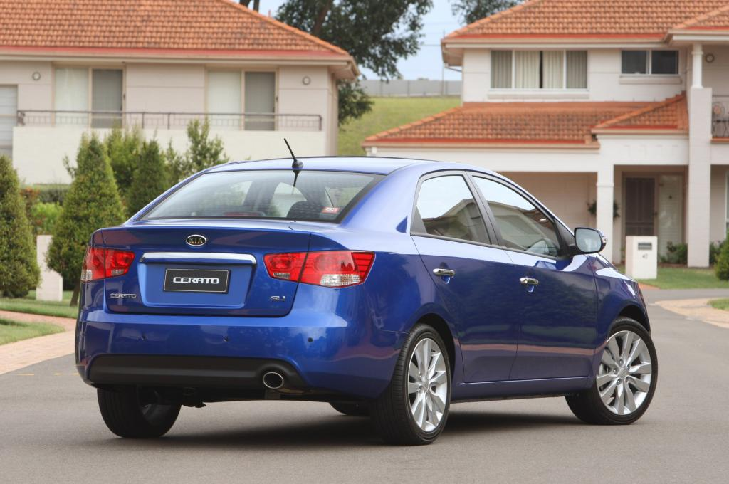 kia cerato koup blue. the 2009 Kia Cerato goes