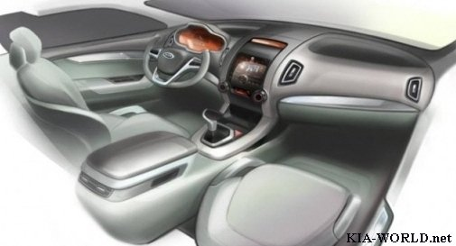 Interior image of the 2010 Kia Sorento. Earlier today we have shown you the