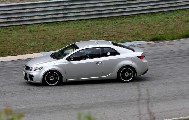 .thumbnail Silver Kia Forte Koup spotted at the race track forte koup