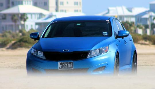 Tuning accessories kia optima in matte blue color kia news blog normally sciox Images