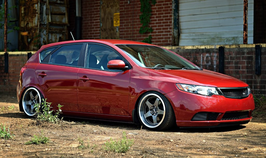 Spicy Red Kia Forte 5 With C Mod Grille Rear Camber Shims Kia News Blog