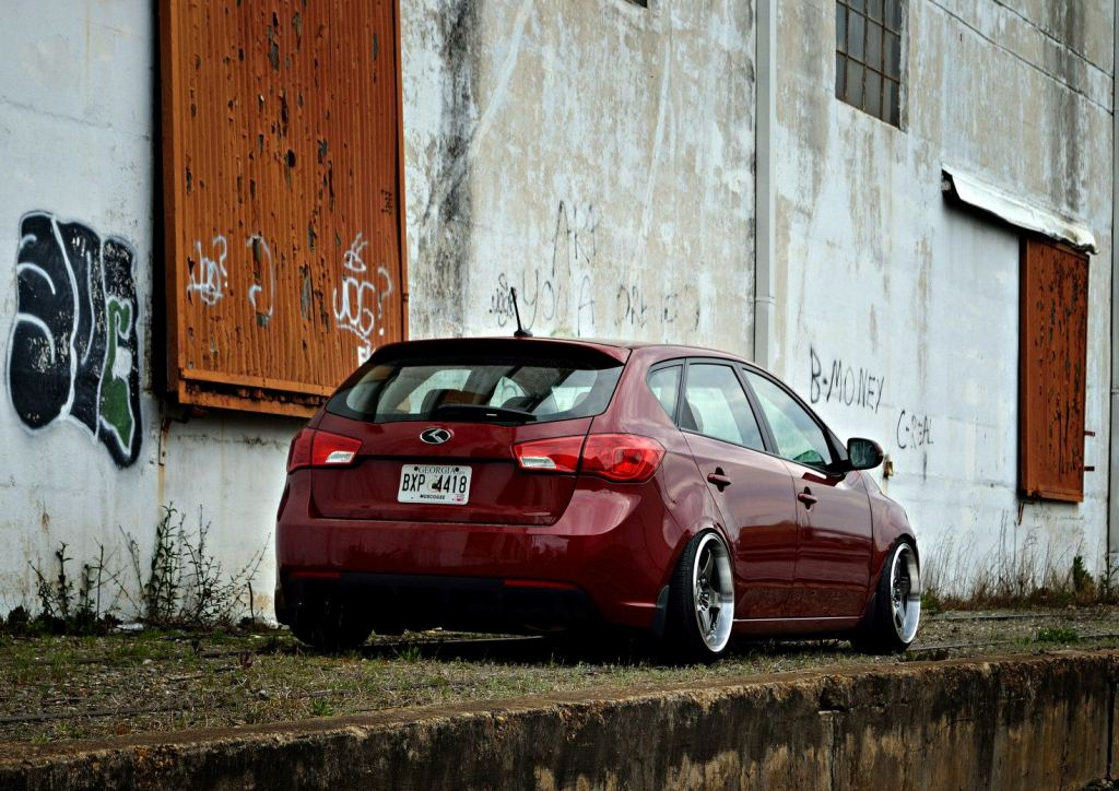 Spicy Red Kia Forte 5 With C-Mod grille, Rear Camber Shims ...