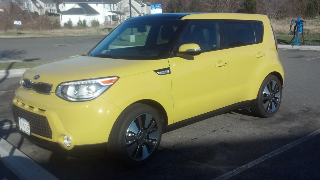 Kia Soul Solar Yellow Exclaim With Whole Shabang Package