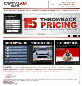 Capital Kia - Yorkton Dealership Website