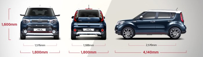 Size of Kia Soul