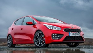Kia cee'd GT red color