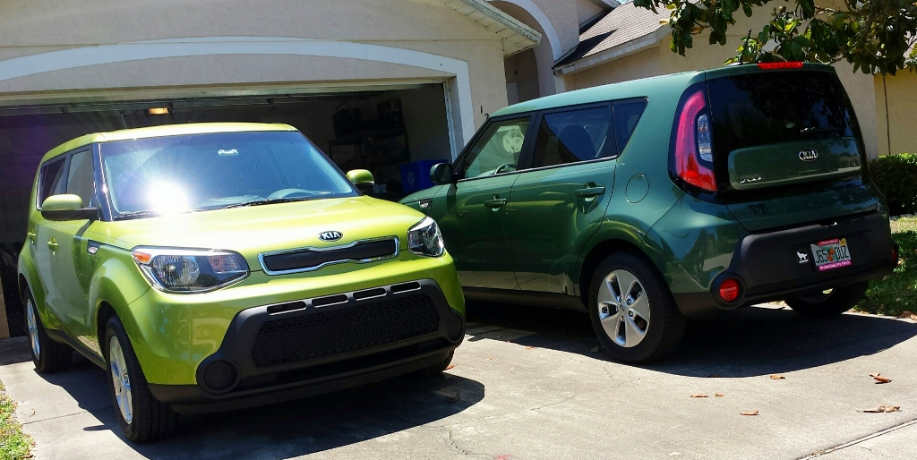 Having 2 green kia soul cars in a family kia news blog kia soul green photo sciox Choice Image