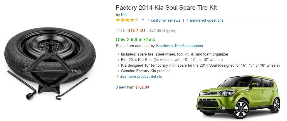 factory 2015 kia soul spare tire kit 16 17 and 18 inch review cost kia news blog. Black Bedroom Furniture Sets. Home Design Ideas