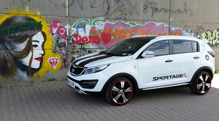 2017 Kia Sportage Accessories >> Tricked Out Kia Sportage Featuring A Wide Number Of