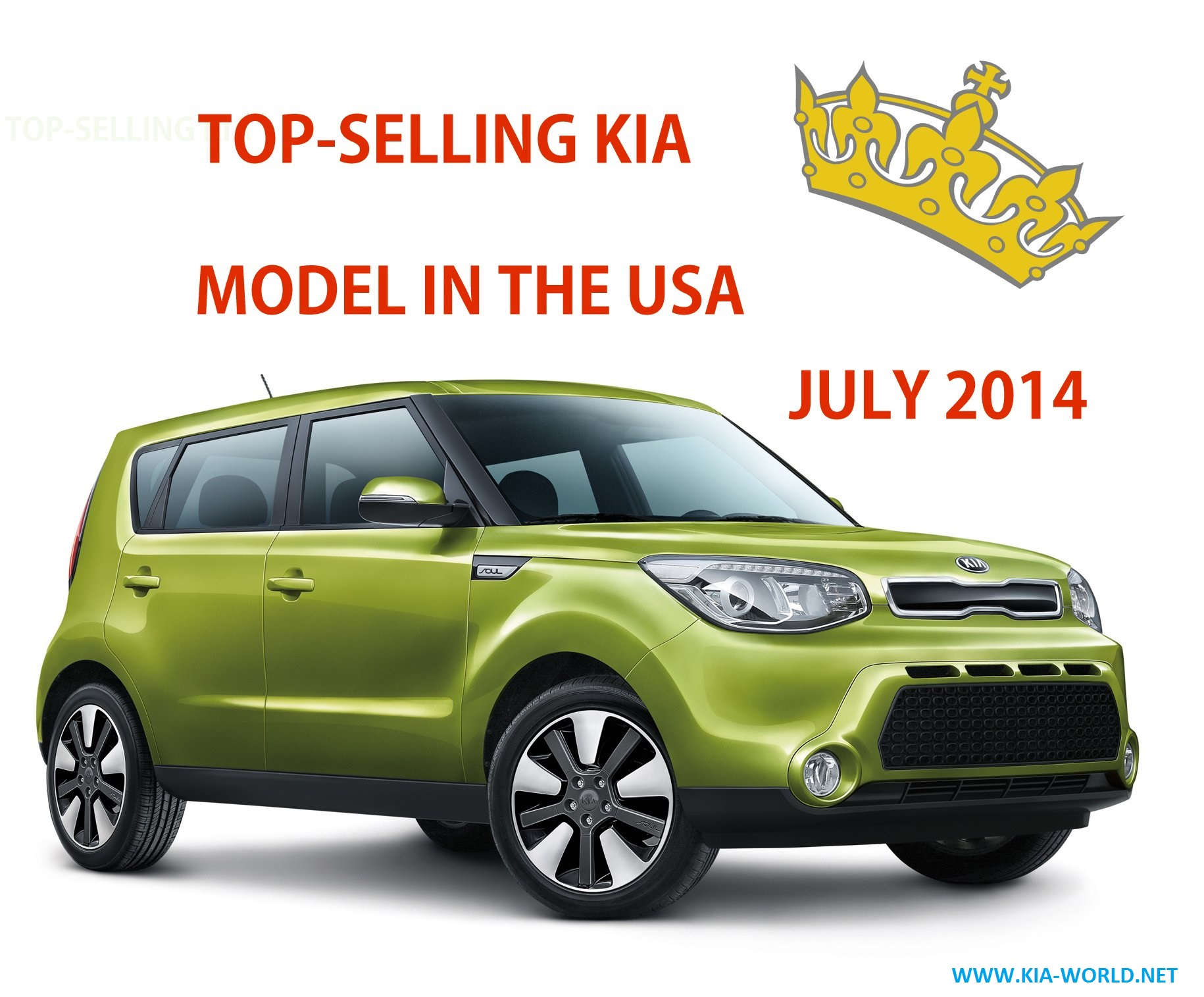 BestSelling Kia Models In July 2014 Soul Optima Sorento  Kia