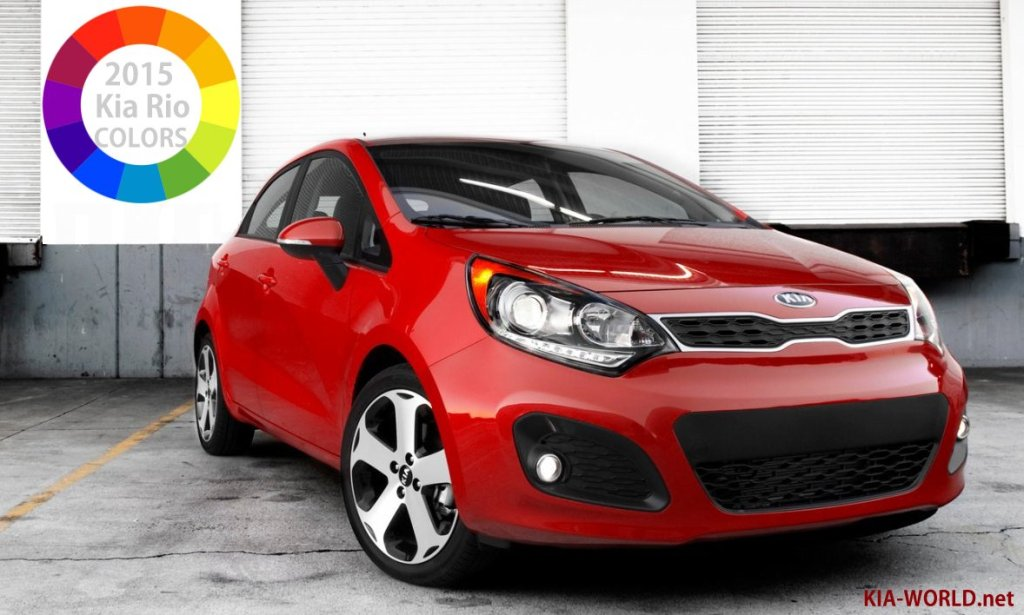 list of 2015 kia rio colors the choice is yours kia news blog. Black Bedroom Furniture Sets. Home Design Ideas