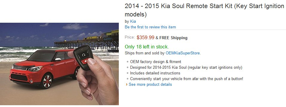 kia soul remote start kit pricing review kia news blog. Black Bedroom Furniture Sets. Home Design Ideas