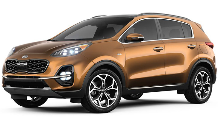 Pictures Of Kia Sportage In Burnished Copper Color