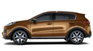 Kia Sportage in brown color