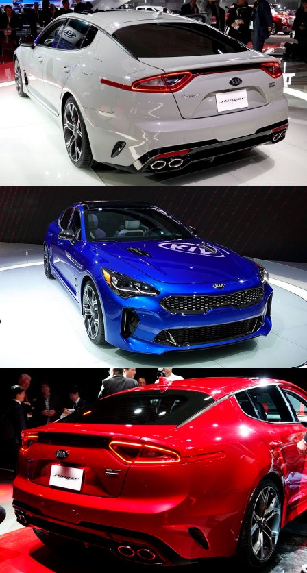 Exterior colors of Kia Stinger 2018 MY