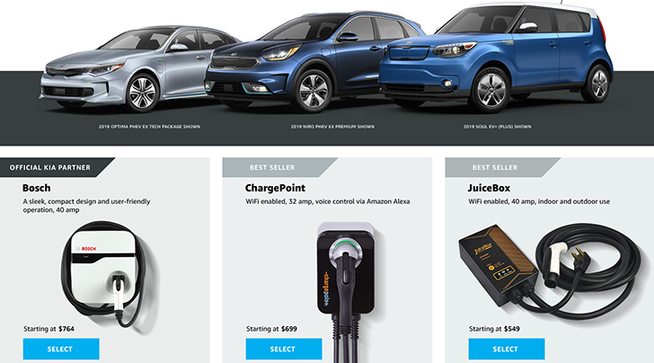 Kia Partners With Amazon to Sell & Install EV Chargers For Homes