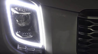 Kia Telluride @ night: different kinds of LEDs