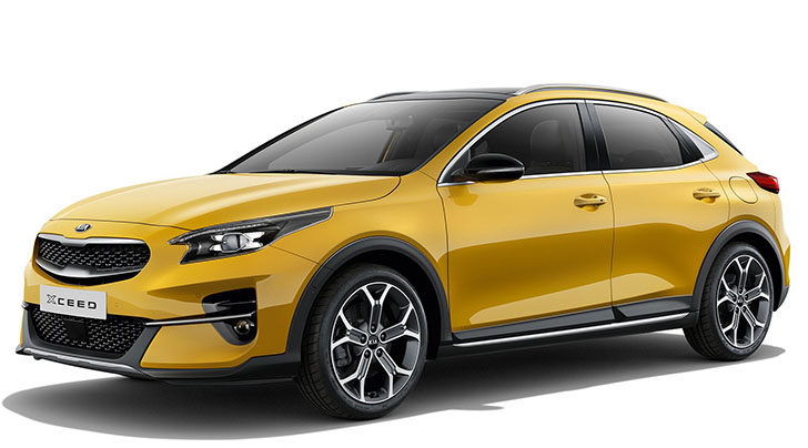 """Kia Xceed painted in """"gold color"""""""
