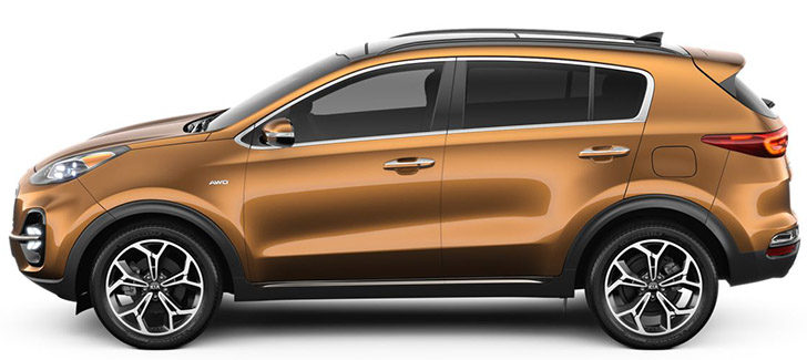 Kia Sportage painted in Burnished Copper