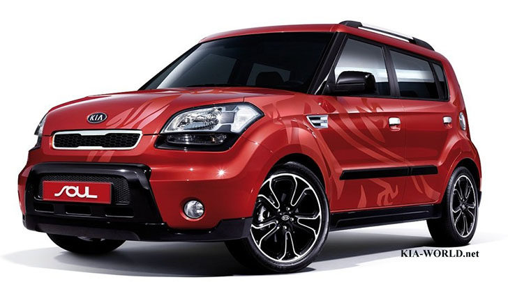 First-generation of the Kia Soul crossover vehicle.