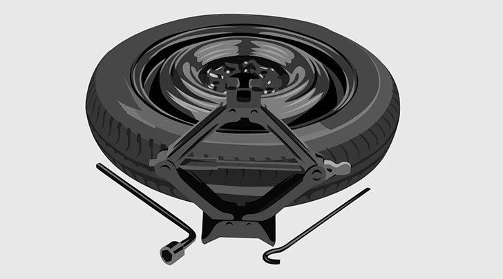 OEM Kia Sportage spare tire kit