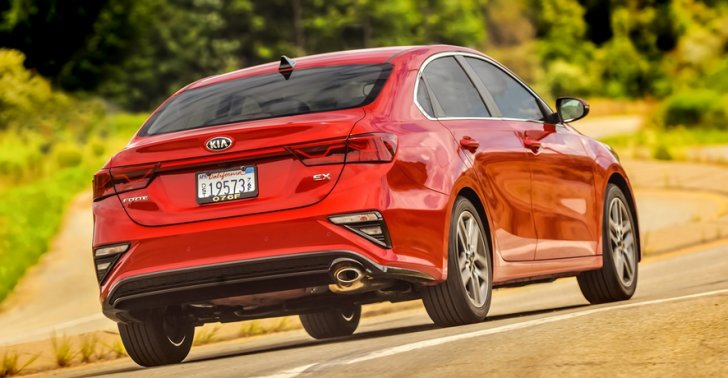 Kia Forte is one of the lowest priced 4-door sedans in the USA, costing less than $20,000.