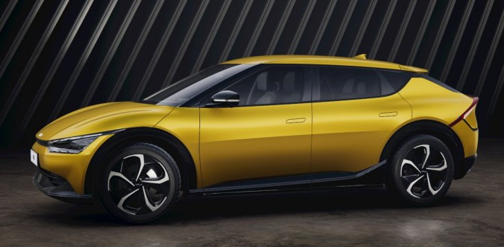 Kia EV6 comes available in yellow color. On sale in US, Europe and other parts of the world.